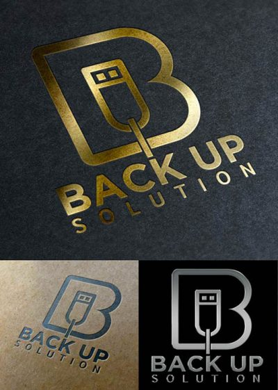 Back Up Solution Logo Template