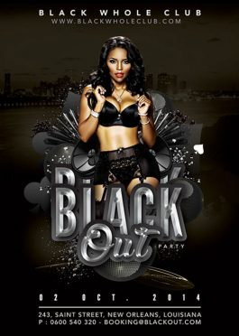 Black Out Club Party Flyer Template