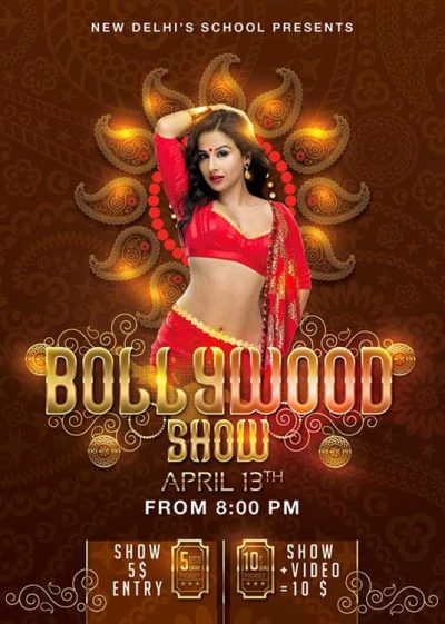 Bollywood Bellydancing Show Flyer Template