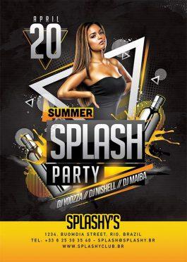 Dj Mixing In Summer Splash Club Party