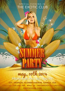 Exotic Summer Club Flyer Template