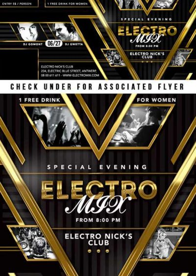 FB Special Evening Electro Mix Party In Club