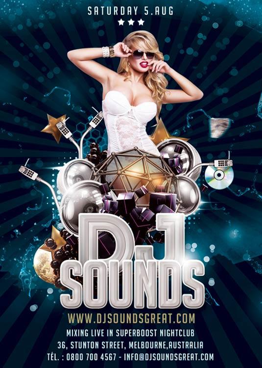 Flyer Modern Music DJ Flyer Template download
