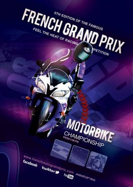 Flyer Template French Grand Prix Moto Race