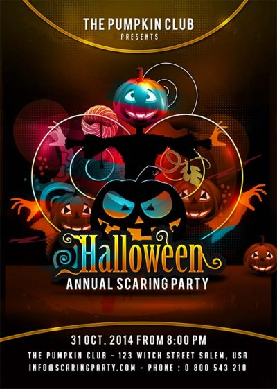Halloween Template Spooky Scaring Party