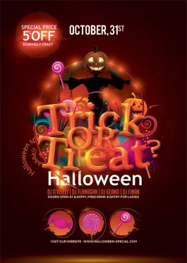 Halloween Trick Or Treat Funny Spooky Night