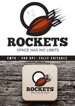Logo Rockets Football Franchise Template