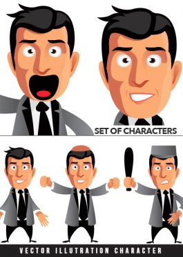 Set Of Vector Illustration Characters