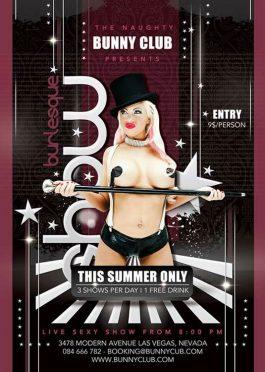 Sexy Burlesque Stripper Flyer Template