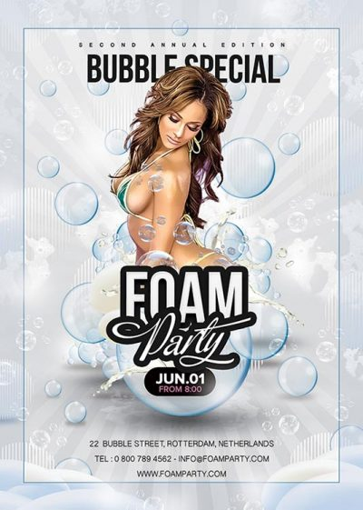 Sexy Foam Party Flyer Template