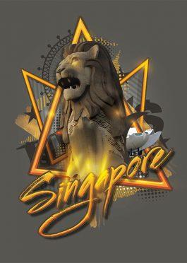 Singapore Sticker Tshirt Case Template