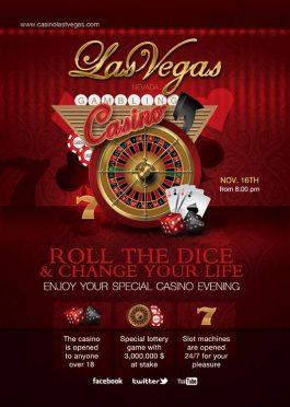 Special Evening Casino Night Flyer Template