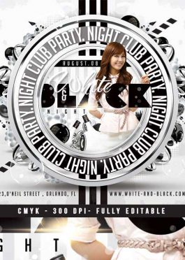 Squared White Party Flyer Template