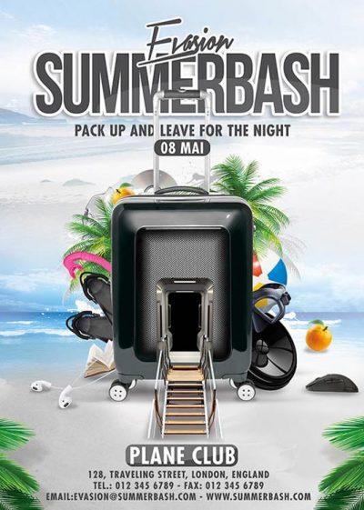 Summer Holidays Bash Flyer Template
