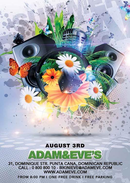 Summer Template Modern Party Flyer