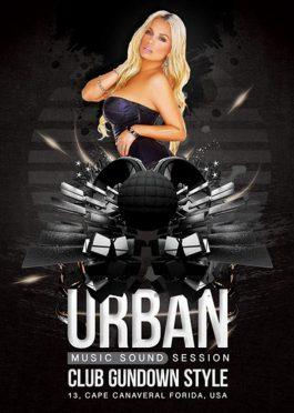 Urban Style Night Club Party Flyer