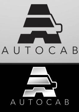 auto cab a letter car logo template