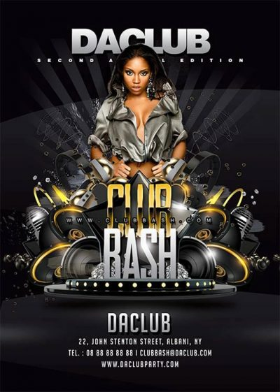 club bash sound and drinks flyer template