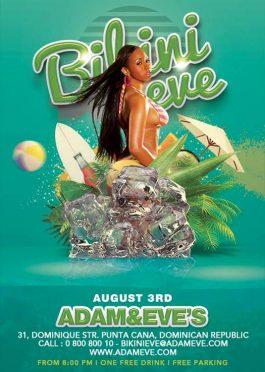 summer party bikini eve flyer template