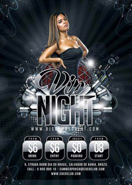 vip edition night club flyer template