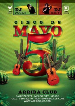 5 Cinco De Mayo Mexican Day Flyer Template