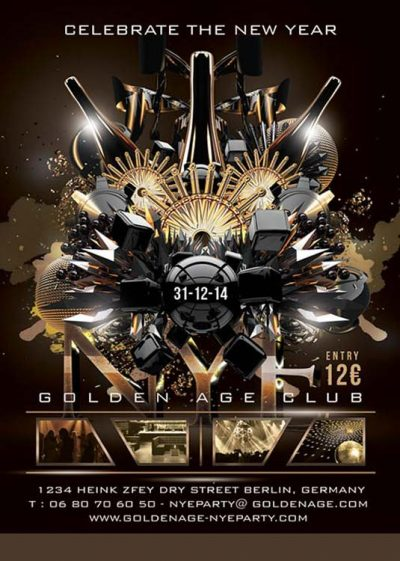 Abstract New Year Eve Flyer Template download