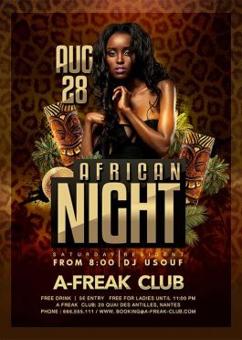 African Themed Night Flyer Template