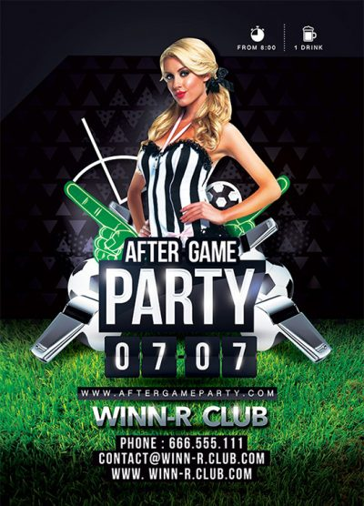 After Game Sport Party Flyer Template download