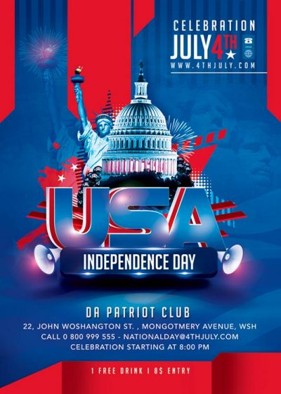 America 4th July Day Flyer Template download