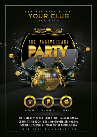 Anniversary Eve Birthday Flyer Template download