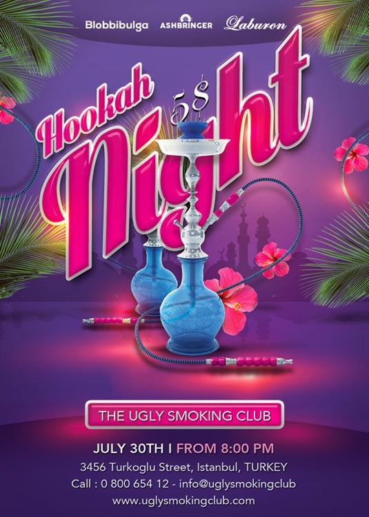 Arabic Hookah Night Sheesha Flyer Template download