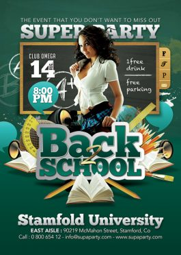 Back To School Student Party Flyer Template download
