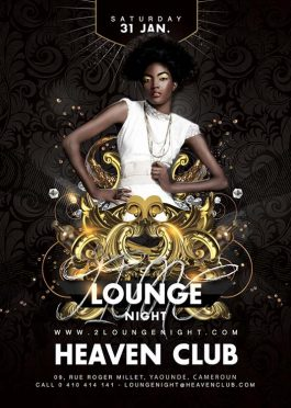 Barocco Style Lounge Party Flyer Template
