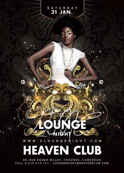 Barocco Style Lounge Party Flyer Template download