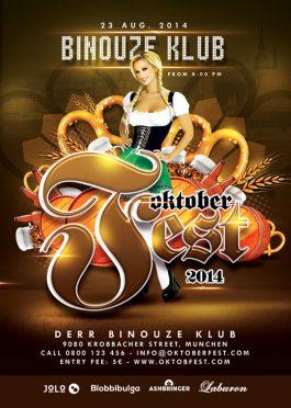Bavarian Oktober Beer Fest Flyer Template