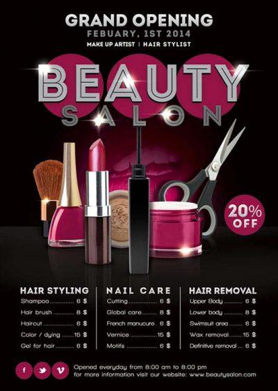 Beauty Salon Opening Shop Flyer Template download