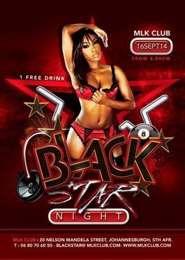 Black Star Night Club Flyer Template