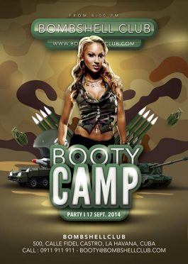 Bombshell Booty Army Flyer Template