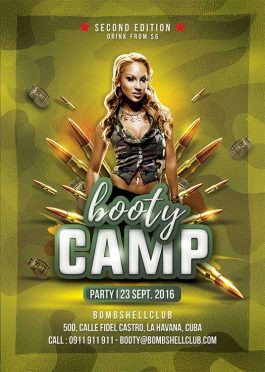 Bombshell Booty Camp Flyer Template