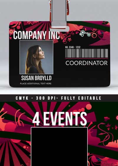 Business or Club Event Badge Template download