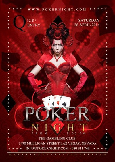 Card And Poker Club Flyer Template download