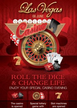 Casino Rack Card Club Flyer Template