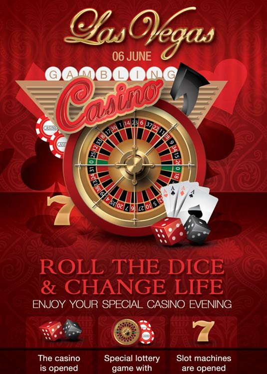 Casino Rack Card Club Flyer Template download