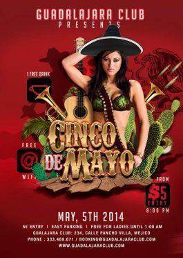 Cinco De Mayo Mexico Flyer Template