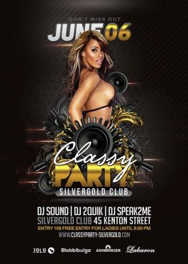Classy Modern Music Party Flyer Template download