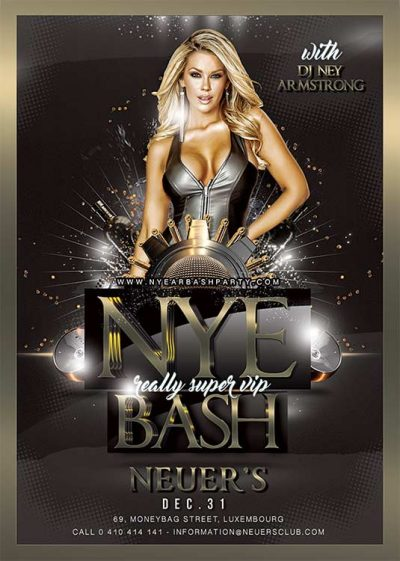 Classy Night New Year Bash Flyer Template download