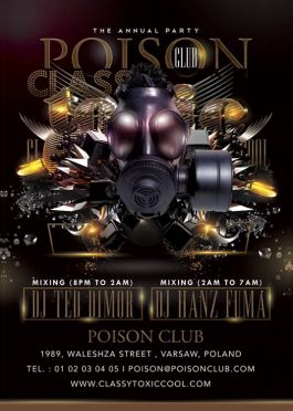 Classy Toxic Cool Urban Party Flyer Template