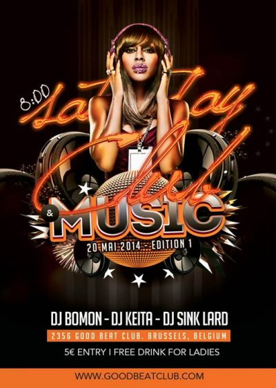 Club Music Good Beat Flyer Template download