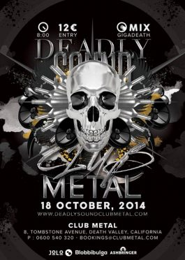 Deadly Sound Metal Flyer Template