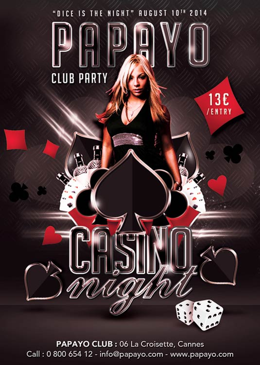 Dice Is Casino Night Flyer Template download